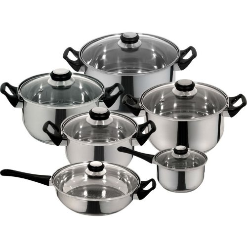 12 Piece Stainless Cookware